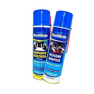 Limpador Multiuso Nautibelle 300ml + Silicone 300ml.