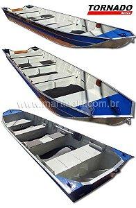 Barco de alumínio Martinelli Tornado 550 Semi chato plataformado - Preço à vista R$ 4.890,00.
