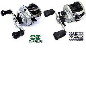 Carretilha Maruri P4 - 4 Rolamentos - 6:3:1 + Carretilha Marine Sports Nova Arena com freio magnético