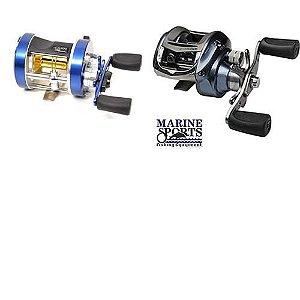 Carretilha Marine Sports Caster 400 3 Rol. Esquerda + Carretilha Marine Sports Ventura VT-5 HIL 5 rolamentos