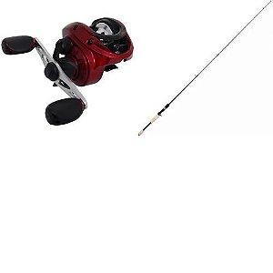 Carretilha Sumax Akita 10000 Direita - 10 rolamentos + Vara Maruri Blade Carbono C561m 1,68m 8-17lb