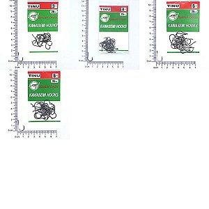 Kit Anzol Kawasemi Tinu Black 3, 4, 5 e 6 c 25un por pacote