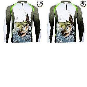 2 Camiseta de Pesca King 67 - Tam: G