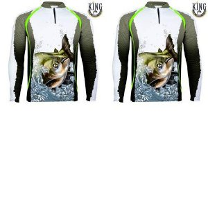 2 Camiseta de Pesca King 67 - Tam: GG