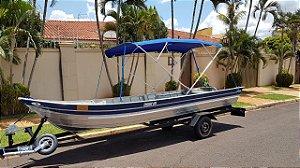 Barco de alumínio Martinelli Tornado 600 BA + Capota com 4 arcos e 3 metros - Preço conjunto a vista R$ 7.370,00 (Frete a consultar)