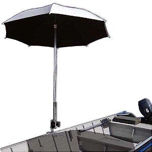 Suporte para guarda sol (banco) especial, reforçado e regulável + Guarda sol Alumínio (dupla face) 1,60m.