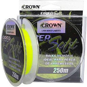 Linha Crown Fiber Soft Yellow 0,33mm 250m 22 libras - 9,9 kg