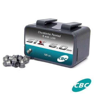 Chumbinho CBC Pointed Nitro Six 6,0mm - c/ 100 un.