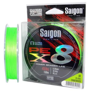 Linha multi Saigon X8 150m 0,25mm 35lb Chartreuse