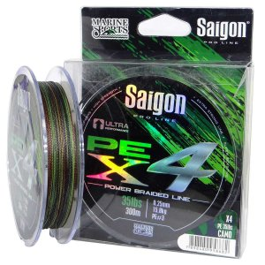 Linha multi Saigon X4 300m 0,36mm 60lb Camouflaged