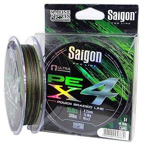 Linha multi Saigon X4 300m 0,33mm 55lb Camouflaged