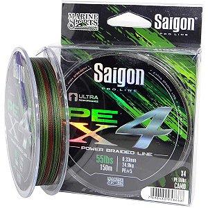 Linha multi Saigon X4 150m 0,33mm 55lb Camouflaged