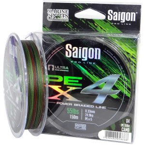 Linha multi Saigon X4 150m 0,29mm 45lb Camouflaged