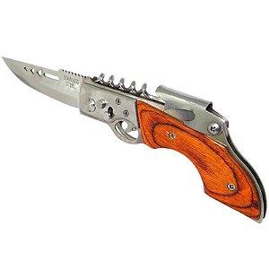 Canivete HZ-0235 Automático com saca-rolhas