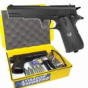 Pistola de Pressão Wingun W125b Co2 4,5mm c/ Kit Atirador Esportivo