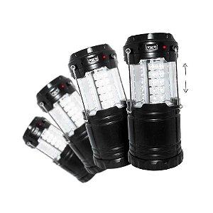 4 Lampião Recarregável J.W.S WS-85B Solar e Celular Entrada USB
