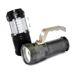 Lampião Recarregável J.W.S WS-85B Sola+ Lanterna Holofote 8806 Recarregável Led CREE B-MAX C/ Zoom