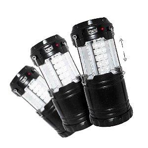 3 Lampião Recarregável J.W.S WS-85B Solar e Celular Entrada USB