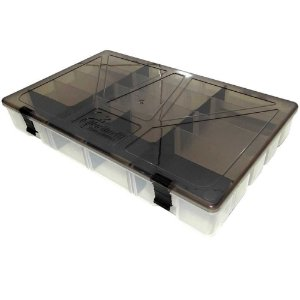 Estojo p/ iscas Box 50 Transparente c/ Tampa Fume Xb80