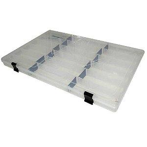 Estojo p/ iscas Box 23 Transparente c/ Trava Preta Xb10