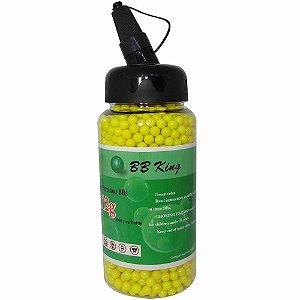 Esferas BBS p/ Airsoft 0.12g c/ 2000 0,12g BB King - amarela