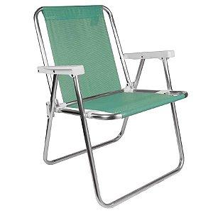 Cadeira Praia Camping Alta Aluminio Sannet-anis 7896020622789