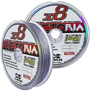 Linha multifilamento Maruri Victoria 8X 0,20mm 100m 24lb