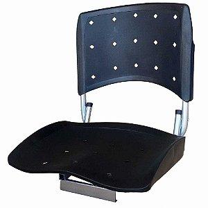 Cadeira Banco Narciso G dobrável p/ Pesca cor Preta 0301