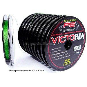 500m Linha multifilamento Victoria 0,18mm 24Lbs 10,88kg