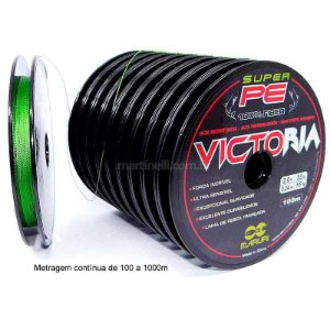 600m Linha multifilamento Victoria 0,18mm 24lbs 10,88kg