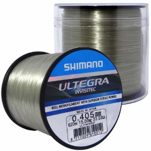 Linha Monofilamento Shimano Ultegra 0,405mm 620m Invisível na água