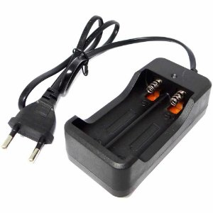 Carregador Duplo Bateria 18650 Lanterna Bivolt