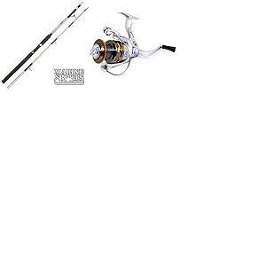 Vara MS Combat 602 20-45 lb + Molinete Maruri Pt 5000 7 Rol