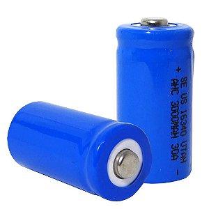 Bateria recarregável 16340 3.7V de 1200mA de lítio Li-ion Azul