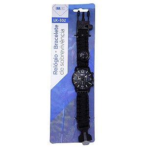 Relógio Luatek Bracelete de Sobrevivencia Lk-e02