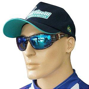 Óculos de Sol Polarizado Dark Vision - Lente Azul Espelhado - 01851