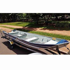 Barco de alumínio Tornado 550 Borda Alta Semi Chato + Carreta Rodoviária Tornado Martinelli - Preço à vista R$ 10.146,00 (Frete a consultar)