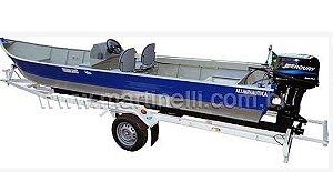 Barco de alumínio Martinelli Tornado 600 CL indicado até 30HP (acompanha todos os Itens p/ passar a embarcação e motor de popa para comando a distancia, pronto para instalar o seu motor) - Preço a vista R$ 13.760,00 (Não acompanha motor de popa e carreta)