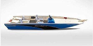 Barco Black Bass MT 5.5 (com comando) Indicação motor 40 a 60HP - Orçamento WhatsApp 16 98111.8340 - Raul