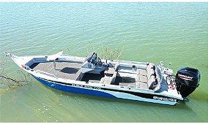 Barco Black Fish 16 com comando indicação motor 40 a 60HP - a partir de R$ 25.224,00 a vista.