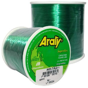 Linha Araty Superflex 1/4lb Verde 0,60mm 330m
