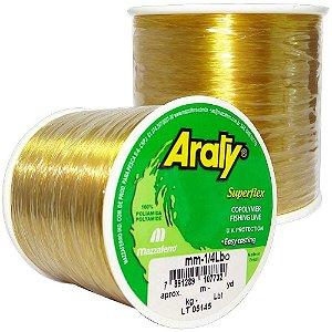 Linha Araty Superflex 1/4lb Ouro 0,35mm 930m