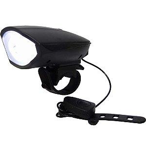 Farol lanterna de bike Luatek LK-025 c/ buzina recarregável USB