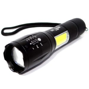 Lanterna de Led T9 Ecooda Ec-6080 Zoom e Luminária + bateria sobressalente