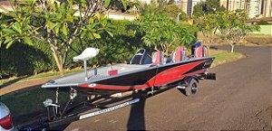 Barco Black Bass 6.0 PRO (com comando) p/ motor 40 a 60HP - Orçamento WhatsApp 16 98111.8340 - Raul