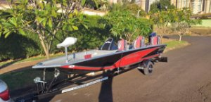 Barco Black Bass 6.0 PRO (com comando) p/ motor 40 a 60HP - a partir de R$ 17.141,00 a vista.