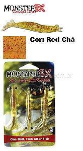 Isca artificial X-Move Monster 3X 9.0 Cm Cor: Red Chá com 3 unidades