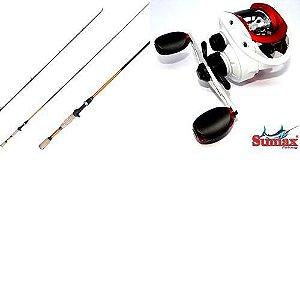 Vara Sumax Amazon 1,80m 12-25lb+ Carretilha Akita7000direita