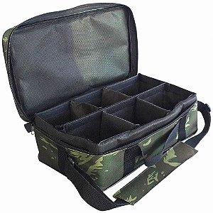 Bolsa Porta Carretilhas Ou Molinetes 6 Espacos 0046 Camuflada