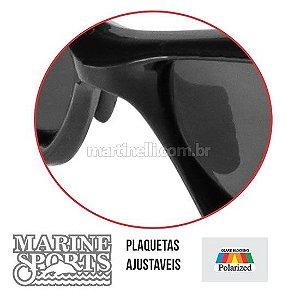 Segurador de óculos retrátil - Preto... + Óculos Polarizado Marine Sports MS-15130 Smoke...